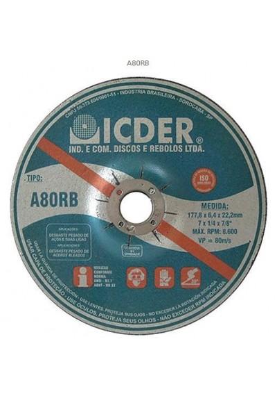 """Disco de Desbaste BDA 7"""" para Pedra grão 120 - Icder"""