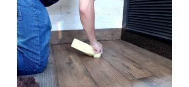 Como fazer a Limpeza Pós Obra e tirar o esbranquiçado no Porcelanato amadeirado?